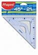 MAPED háromszög vonalzó, műanyag, 21 cm, átfogó Graphic 45°-os