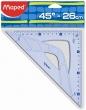MAPED háromszög vonalzó, műanyag, 26 cm, átfogó Graphic 45°-os