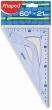 MAPED háromszög vonalzó, műanyag, 21 cm, átfogó Graphic 60°-os