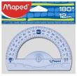 MAPED szögmérő, műanyag, 180°-os, 12 cm, Graphic