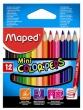 MAPED színes ceruza készlet, háromszögletű, Color'Peps mini, 12 db-os