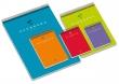UNIPAPEL spirálfüzet, A6, 80 lapos, műanyag borítós, Guerrero 01, vegyes szín, kockás