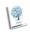UNIPAPEL spirálfüzet, A6, 120 lapos, műanyag borítós, Tempo, Évszakok, vegyes minta, kockás