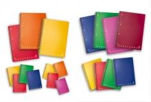 PIGNA spirálfüzet, A6, 80 lapos, műanyag borítós, Monocromo PPL, vonalas