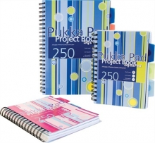 PUKKA PAD spirálfüzet, A6, 125 lapos, műanyag borítós, Project book, vonalas