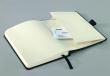 SIGEL jegyzettömb, A6, 194 lapos, keményfedeles, exkluzív, Conceptum, fekete, kockás