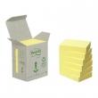3M POSTIT jegyzettömb, öntapadós, 38x51 mm, 100 lapos, POST-IT, környezetbarát, sárga