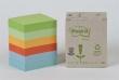3M POSTIT jegyzettömb, öntapadós, 38x51 mm, 100 lapos, POST-IT, környezetbarát, pasztell szivárvány színek