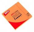 APLI jegyzettömb, öntapadós, 75x75 mm, 100 lapos, neon narancs