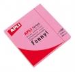 APLI jegyzettömb, öntapadós, 75x75 mm, 100 lapos, neon rózsaszín