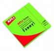 APLI jegyzettömb, öntapadós, 75x75 mm, 100 lapos, neon zöld