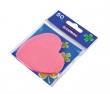 DONAU jegyzettömb, öntapadós, 50 lapos, szív alakú, rózsaszín