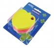 DONAU jegyzettömb, öntapadós, 5x80 lapos, alma alakú, vegyes szín