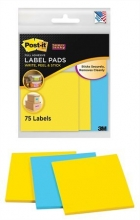 3M POSTIT öntapadó címke csomag, 3x25 lapos, POST-IT, Super Sticky