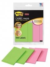 3M POSTIT öntapadó címke csomag, 4x25 lapos, POST-IT, Super Sticky