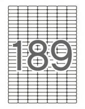 APLI etikett, A4, 25,4x10 mm, 7 pályás, univerzális