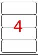 APLI etikett, A4, 190x61 mm, univerzális
