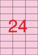 APLI etikett, A4, 70x37 mm, 3 pályás, pasztell rózsaszín