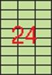 APLI etikett, A4, 70x37 mm, 3 pályás, pasztell zöld