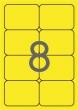 APLI etikett, A4, 99,1x67,7 mm, 2 pályás, kerekített sarkú, neonsárga