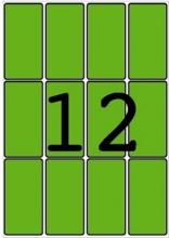 APLI etikett, A5, 34x67 mm, kerekített sarkú, zöld