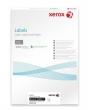 XEROX etikett, A4, 38,1x21,2 mm, univerzális, kerekített sarkú