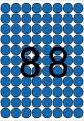 APLI etikett, A5, 16 mm, kör, kék