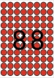 APLI etikett, A5, 16 mm, kör, piros