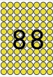 APLI etikett, A5, 16 mm, kör, sárga