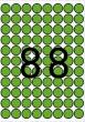 APLI etikett, A5, 16 mm, kör, zöld