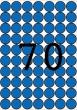 APLI etikett, A5, 19 mm, kör, kék