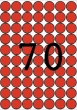 APLI etikett, A5, 19 mm, kör, piros