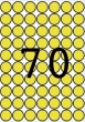 APLI etikett, A5, 19 mm, kör, sárga