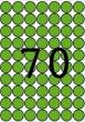 APLI etikett, A5, 19 mm, kör, zöld