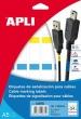 APLI etikett, A5, 19,1x48,8 mm, poliészter, vezeték-jelölő