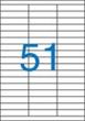 VICTORIA etikett, A4, 70x16,9 mm, 3 pályás, univerzális