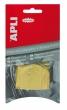 APLI árazócímke, 22x35 mm, sárga