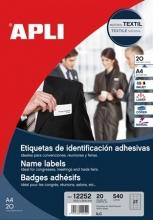 APLI azonosítókártya, 63,5x29,6 mm, öntapadó