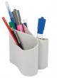 ICO írószertartó, Lux, műanyag, álló, 3 rekeszes, szürke