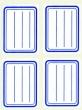 APLI füzetcímke, kék szegélyes, vonalas, 38x50 mm, 20 db