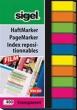 SIGEL jelölőcímke, 6x50 mm, 10x40 lap, műanyag, vegyes szín