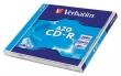 VERBATIM CD-R, 700 MB, 80 min, 52x, normál tokban, Crystal (DataLifePlus - Super AZO)