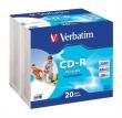 VERBATIM CD-R, 700 MB, 80 min, 52x, vékony tokban, szélesen nyomtatható, ID