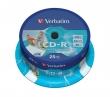 VERBATIM CD-R, 700 MB, 80 min, 52x, hengeren, szélesen nyomtatható, ID