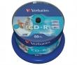 VERBATIM CD-R, 700 MB, 80 min, 52x, hengeren, szélesen nyomtatható, no-ID