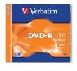 VERBATIM DVD-R, 4,7 GB, 16x, normál tokban
