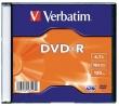 VERBATIM DVD-R, 4,7 GB, 16x, vékony tokban