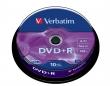 VERBATIM DVD+R, 4,7 GB, 16x, hengeren