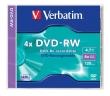 VERBATIM DVD-RW, 4,7 GB, 4x, normál tokban