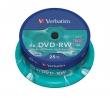 VERBATIM DVD-RW, 4,7 GB, 4x, hengeren